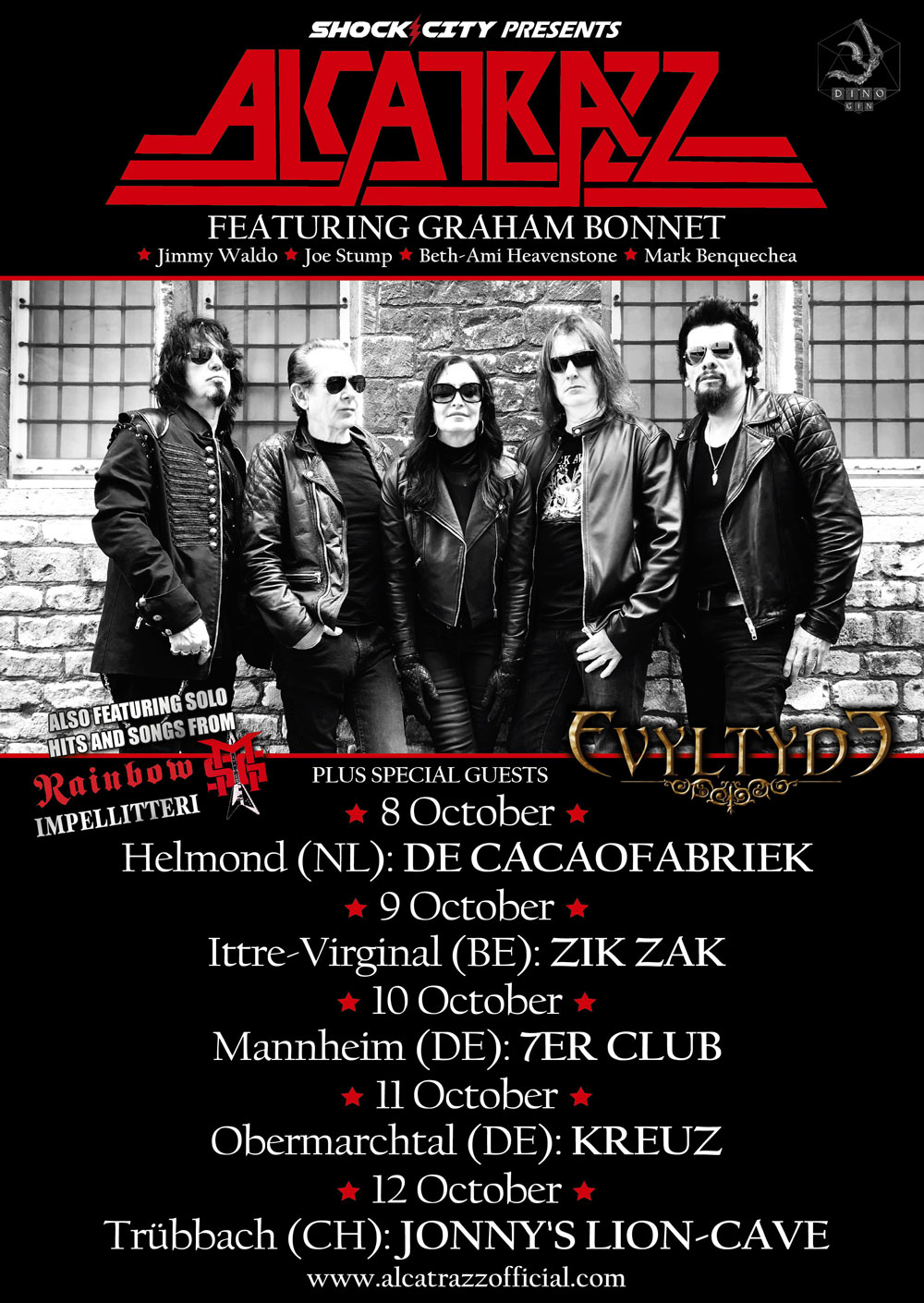 Alcatrazz Northern Europe Tour