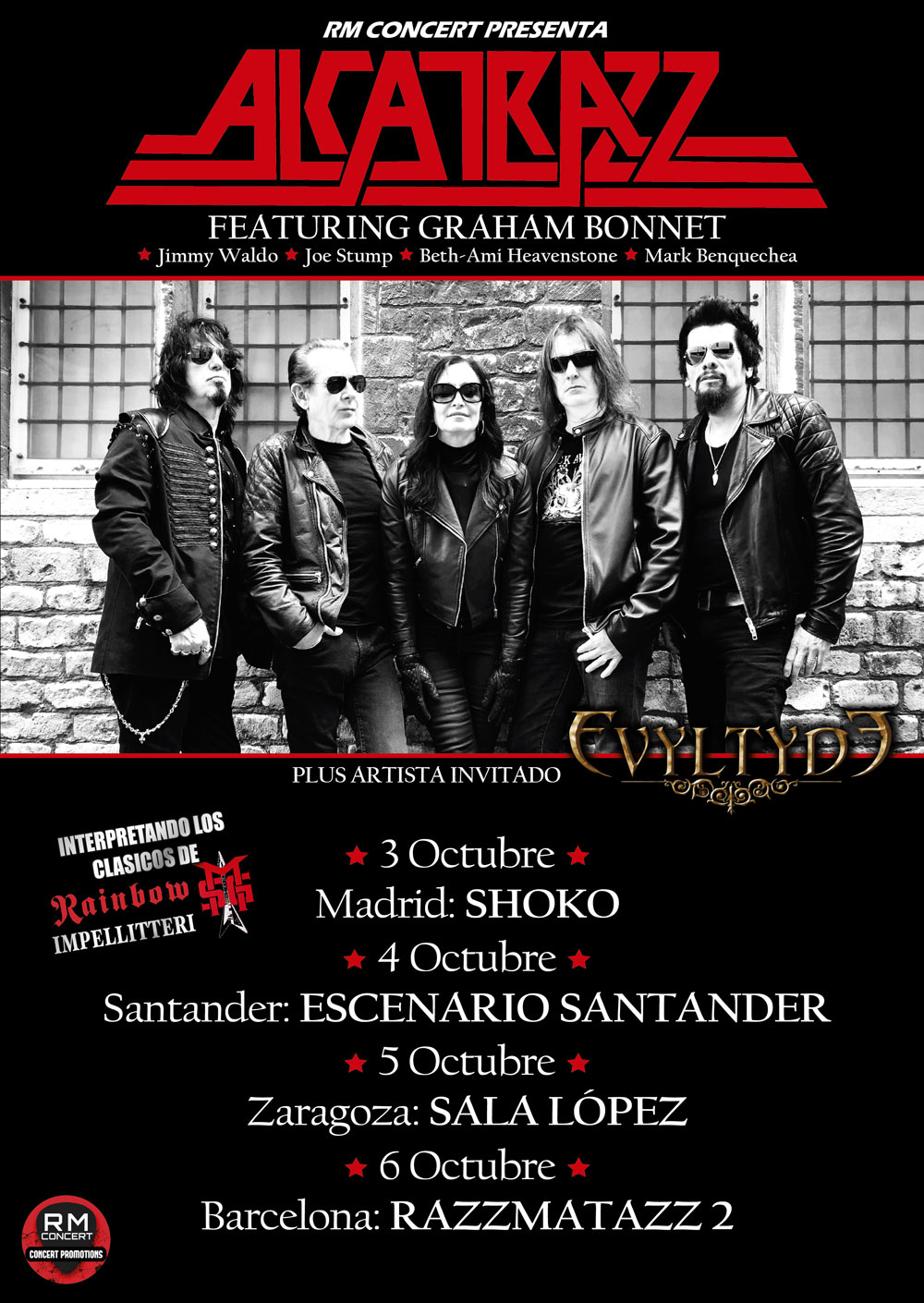 Alcatrazz Spain Tour