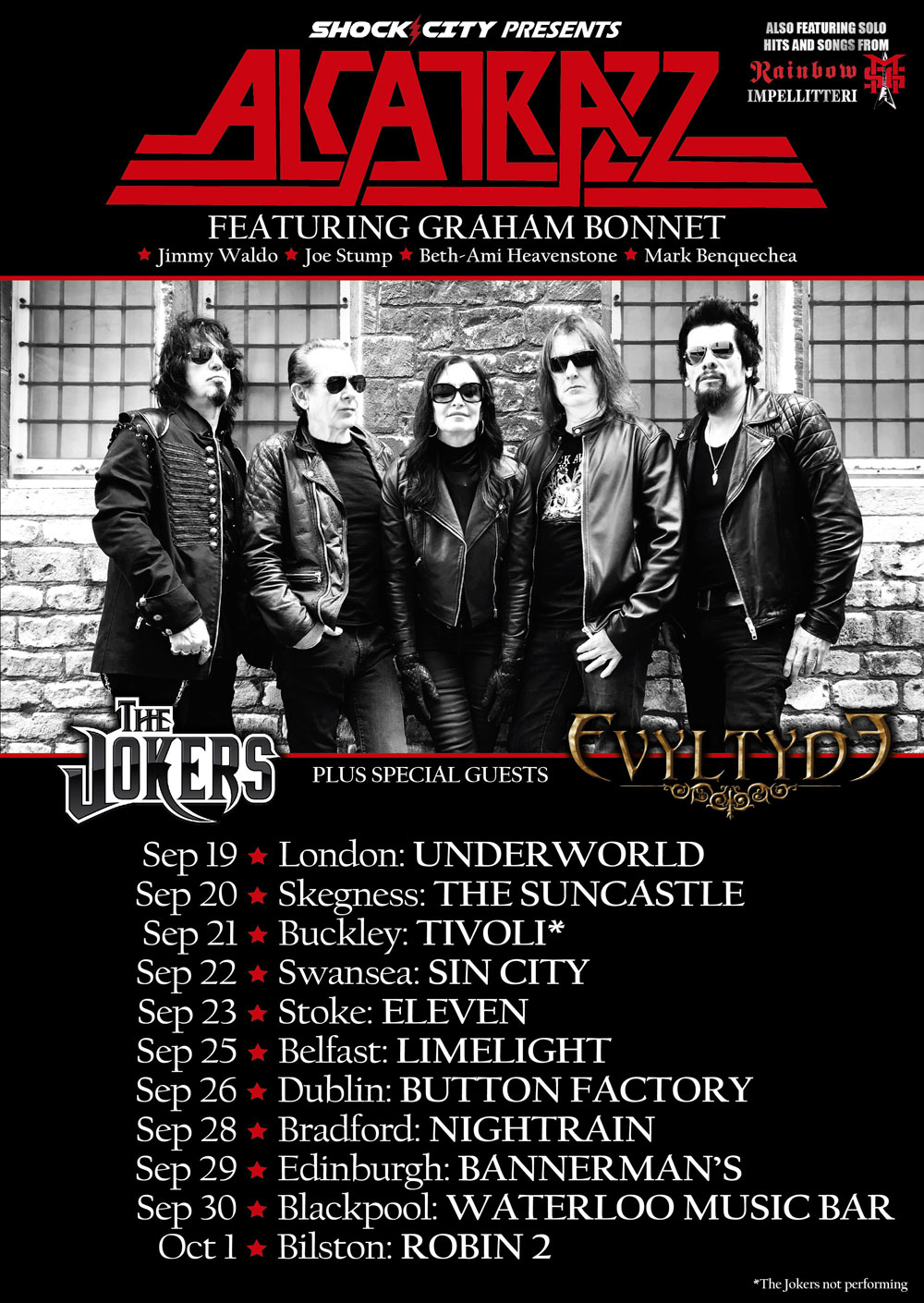 Alcatrazz UK Tour